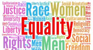 Words such as equality, women, race, rights, etc.