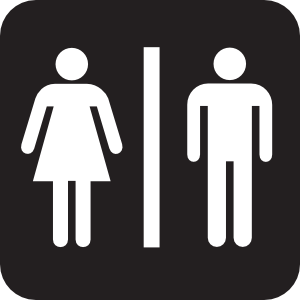 photo of gender bathroom symbols