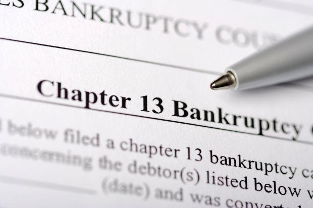 Photo of bankruptcy filing
